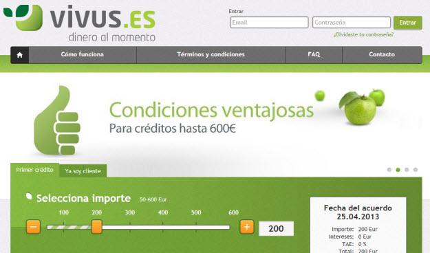Créditos personales en Vivus