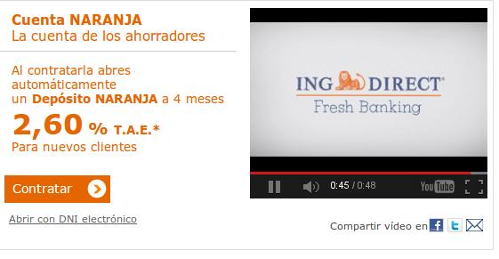 ING Direct: descubre las ventajas de la Cuenta Naranja