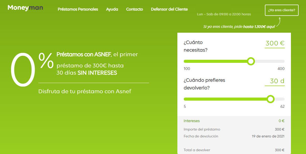 Mejores préstamos con ASNEF sin intereses