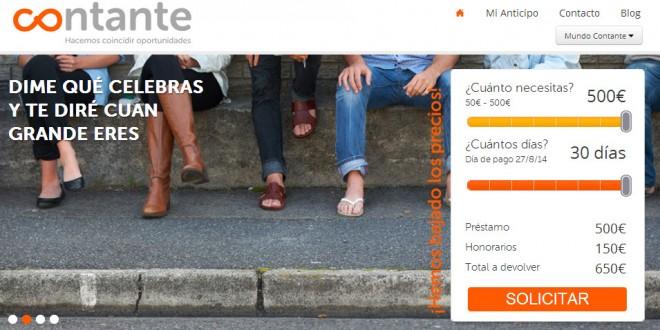 Contante: opiniones sobre el portal de préstamos personales