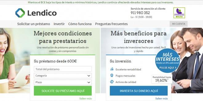 Lendico: opiniones del portal de prestamos P2p en España