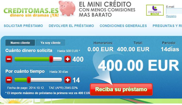 Solicita un préstamo de 1,000€