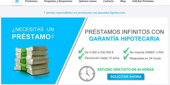 T-presta.es: opiniones del portal de créditos con garantías