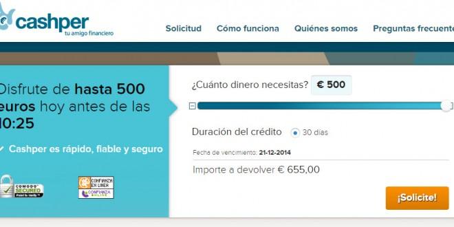 Cashper: comentarios del portal de creditos con ASNEF