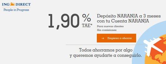Depósitos bancarios ING Direct opiniones 2015