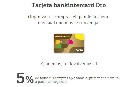 tarjeta bankinter card intereses 2016