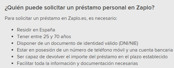 zaplo.es requisitos