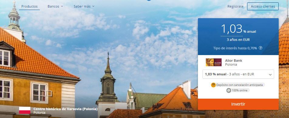 depositos mas rentables europeos 2017