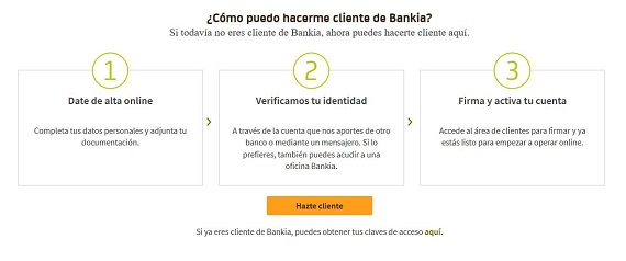 bankia cuenta on requisitos