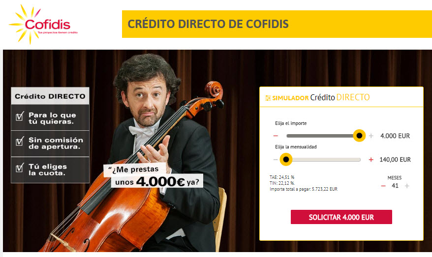 Crédito personal Cofidis