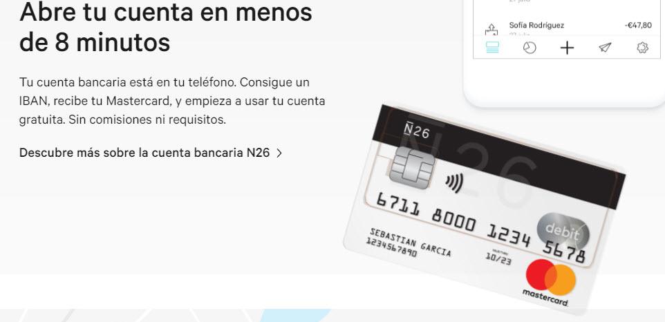 n26 abrir cuenta bancaria